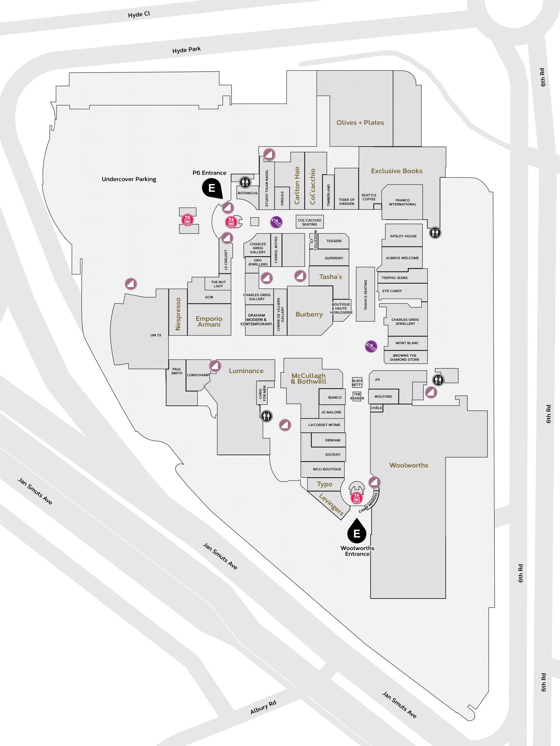 Upper Mall Map