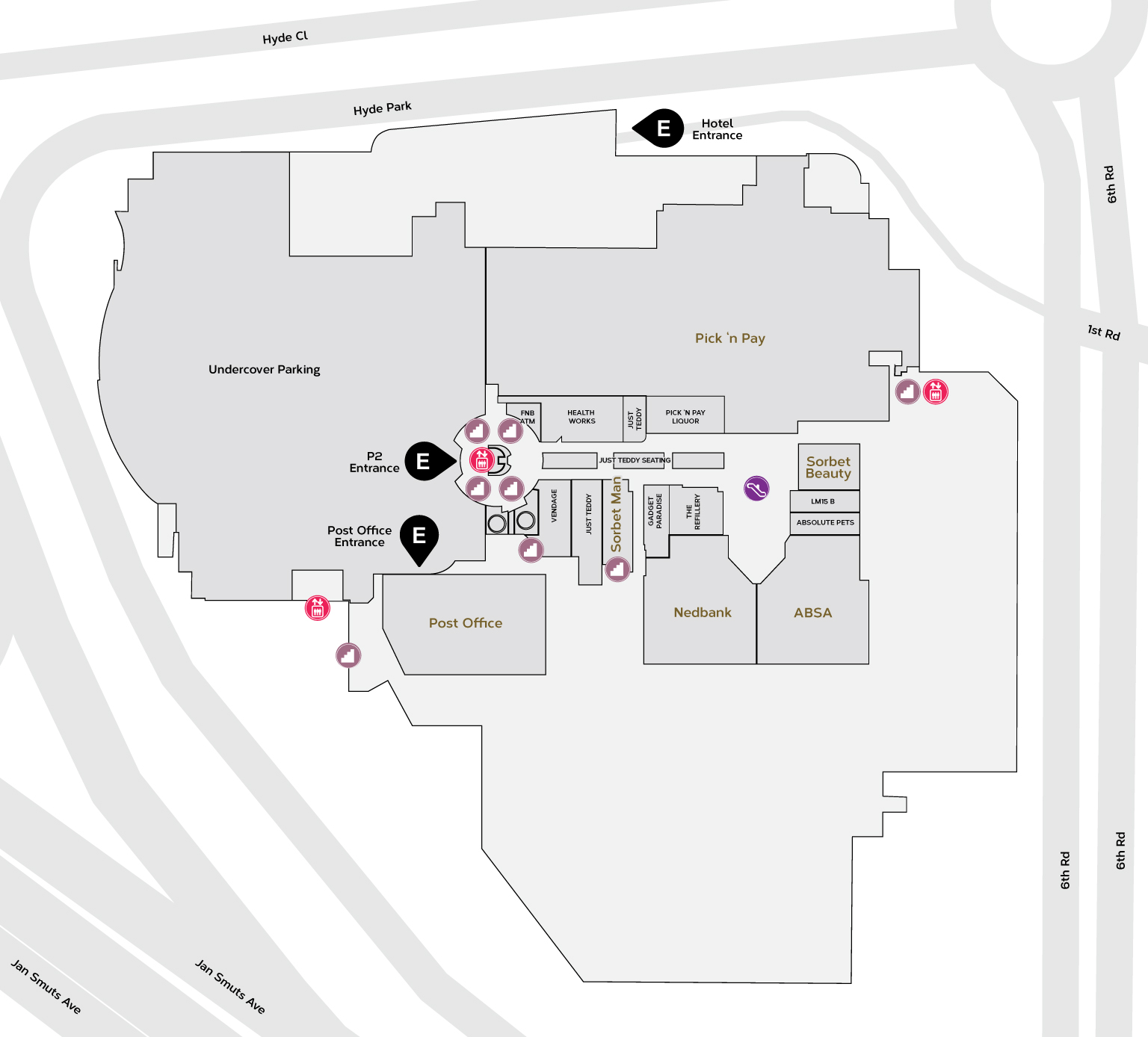 Lower Mall Map